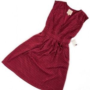 modcloth • nwot chevron patterned back tie dress